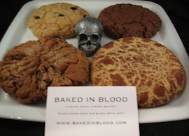 BAKED IN BLOOD Black Metal Cookies